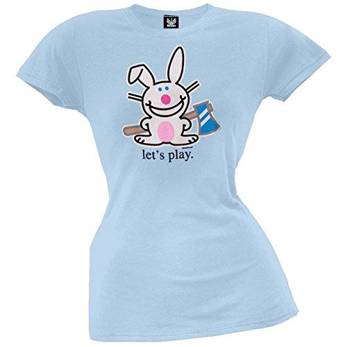 Happy Bunny - Let's Play Juniors T-Shirt - X-Large