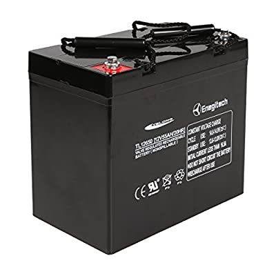 Powermall 12V 55Ah Sealed Lead Acid AGM SLA Rechargeable and Deep Recycle Battery for Trolling Motor, Power Boat Pontoon, Fish Finder