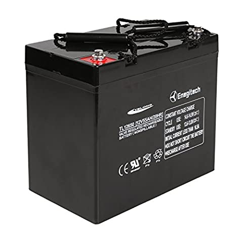 Powermall 12V 55Ah Sealed Lead Acid AGM SLA Rechargeable and Deep Recycle Battery for Trolling Motor, Power Boat Pontoon, Fish - Marine Battery Backup Sump Pump