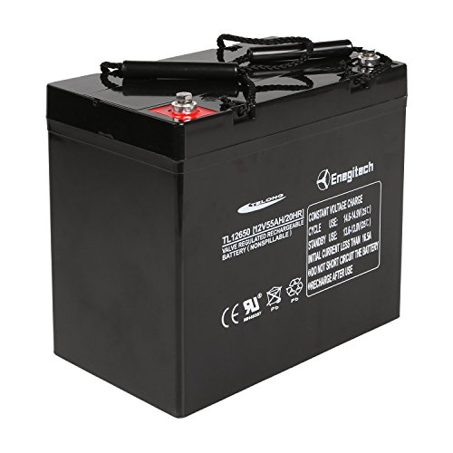Powermall 12V 55Ah Sealed Lead Acid AGM SLA Rechargeable and Deep Recycle Battery for Trolling Motor, Power Boat Pontoon, Fish Finder (Mercury Trolling Motor compare prices)