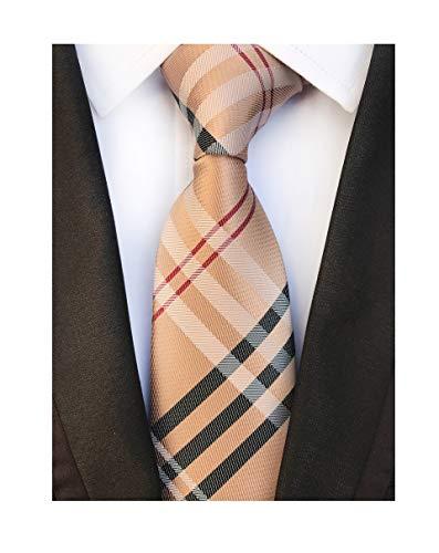 Men's Brown Red Black Woven Casual Preppy Stylish Tie Necktie Presents Gift Idea ()