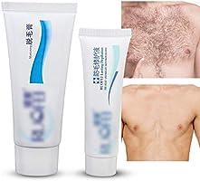 Crema de eliminación de vello sin dolor, Crema depilatoria premium para hombre Sin dolor Sin fallas Rápida para el cuerpo Piernas Bikini Área Crema para depilar la piel Sencilla y rápida: Amazon.es: