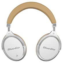 Back to School Bluedio F2 (Faith) Active Noise Cancelling Over-ear Business Wireless Bluetooth Headphones with Mic (White)