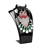 Cyndie Acrylic Mannequin Necklace Earrings Display Stand Holder Jewelry Pendant Show Rack