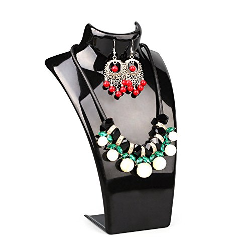 Ring Display Jewelry Pendant Stand - Cyndie Acrylic Mannequin Necklace Earrings Display Stand Holder Jewelry Pendant Show Rack