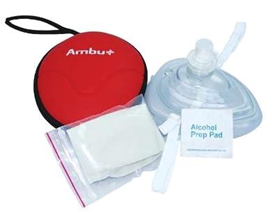 Amazon.com: Caja de 20 máscaras Ambu para adulto/niño CPR ...
