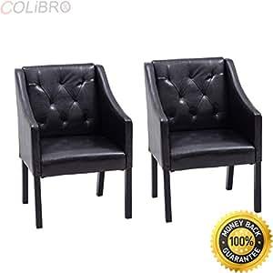Amazon.com: COLIBROX--Set Of 2 pcs Accent Arm Chair Tub ...