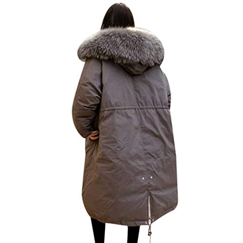 Cerniera Vintage Cappuccio Donna Giacca Coulisse Cappotti Confortevole Trapuntata Tasche Moda Giubotto Anteriori Monocromo Con Grau Invernali xvSwUHq
