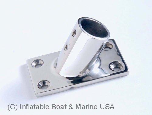 """Boat Hand Rail Fitting-60 Degree 7/8"""" Rectangular Base-Marine 316 Stainless Steel (60 Degree)"""