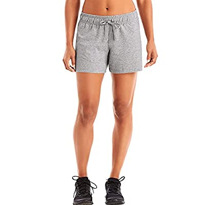 Champion Women's Authentic Jersey Ribbed Waistband Short_Oxford Grey_X-Large