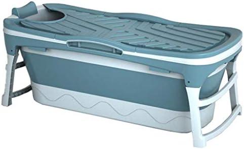 浴槽 大人用たたみバスバレル 保温用厚膜バスバレル 家庭用浴槽 便利なたたみ浴槽(最大負荷85kg) (Color : Blue, Size : 118*60*58cm)
