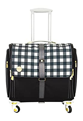 American Crafts We R Memory Keepers 360 Crafter's Bags Fold-Up, Plaid Black