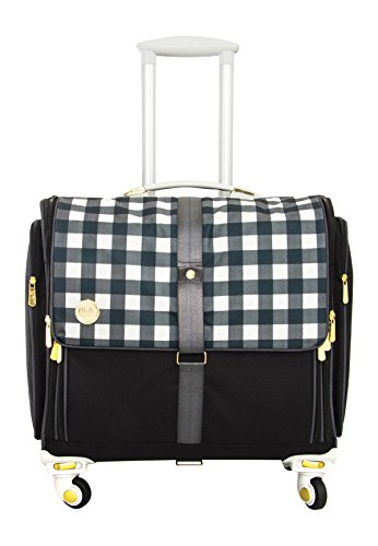 American Crafts We R Memory Keepers 360 Crafter's Bags Fold-Up, Plaid Black by American Crafts
