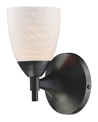 Elk 10150/1DR-WS Celina 1-Light Sconce in Dark Rust with White Swirl Glass