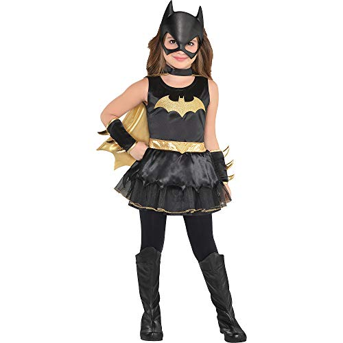 Costumes USA DC Comics: The New 52 Batgirl Costume for Toddler Girls, Size 3-4T, Includes a Dress, Gauntlets, and More -