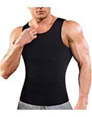 Ursexyly Mens Compression Undershirts Slimming Body Shaper Vest Workout Abdomen Tank Tops
