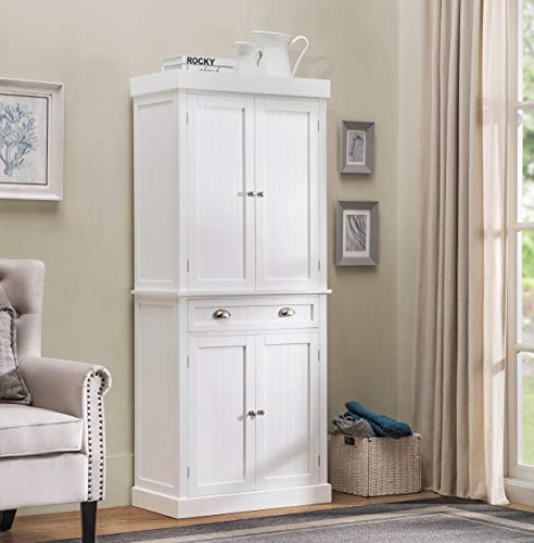 (2L Lifestyle Ashlyn Cabinet White Finish, Large)