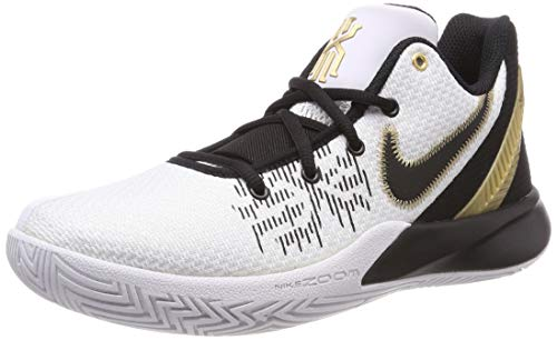 Nike Men's Kyrie Flytrap II Basketball Shoes, White/Metallic Gold-Black (US 10)