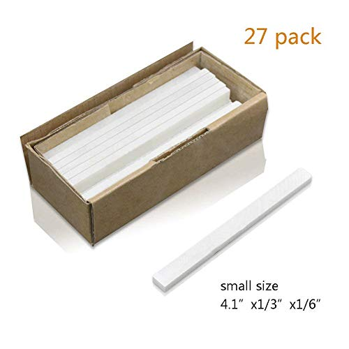 HOMEE Natural Flat White Soapstone Mineral Thin Bulk Marker for Welders Textile Marking Tools, 27 Refills 100x10x5mm for Each Perfect for Making Removable Markings on Steel Cast Iron -