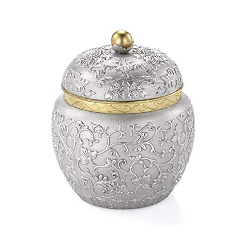 Royal Selangor Hand Finished Straits Expression Collection Pewter Peony Tea Caddy by Royal Selangor (Image #1)