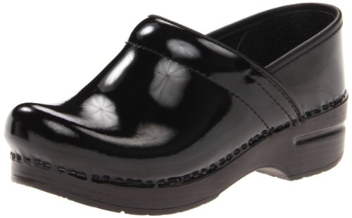 Dansko Women's Wide Pro Clog,Black Patent,41 EU/11 W US by Dansko