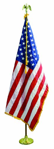 9' U.S. Flag Presentation Set Include 4'x6' American Flag Pole and Stand by Valley Forge