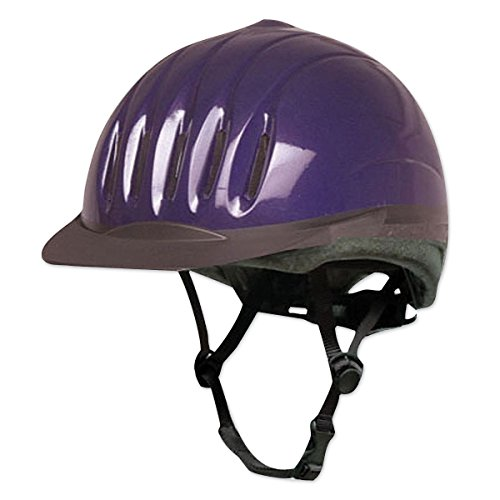 Equi-Lite Schooling Helmet for Kids | Adjustable Horse Riding Helmets for Young Equestrian Riders, Purple, Small
