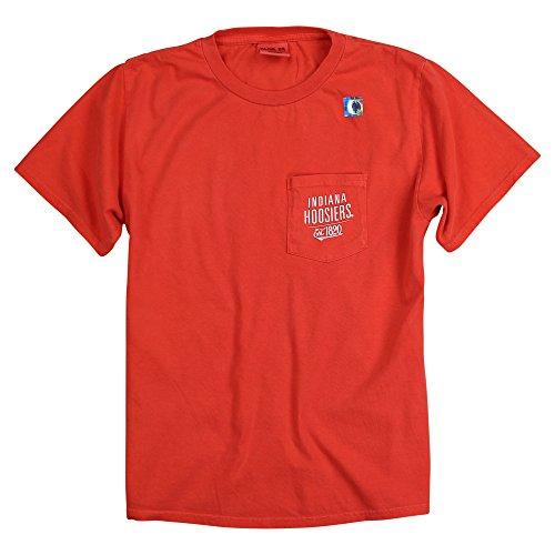 Blue 84 Women's NCAA 100% Cotton Pocket T-Shirt (Indiana Hoosiers, X-Large)