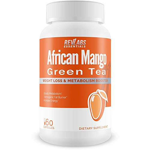 African Mango Plus Green Tea for Detox Cleanse and Weight Support - Anti-Oxidants to Boost Immune Function and Improve Overall Health - 60 Cap (Mega T Green Tea With Acai Berry)