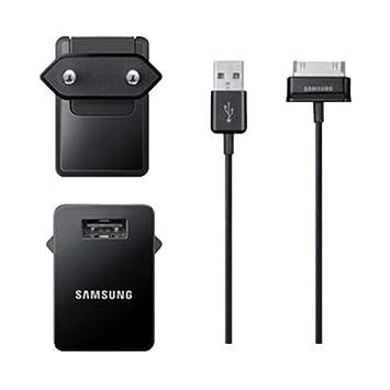 Samsung BT-ETAP11EBEGSTD - Cargador para Samsung Galaxy Tab, 10 W, color negro- Versión Extranjera