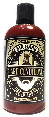 Beard Conditioner and Moisturizing Wash by Sir Hare | Natural Facial Hair Products- Infused with Vitamin E and Vitamin B for Shine and Deep Conditioning | Large 8 oz Bottle