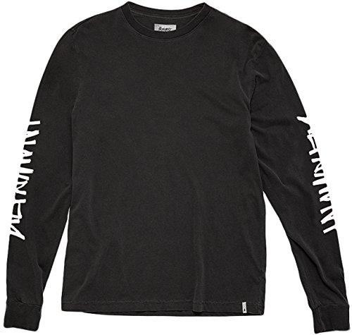 ef13c7636 ALTAMONT Mens One Liner Long Sleeve Shirts Medium Black/White