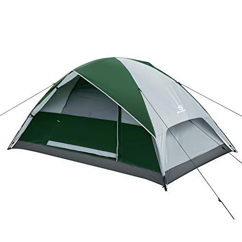 Bessport 2 Persoon Camping Tent Waterdichte Lichtgewicht Backpacken Tent Gemakkelijk Setup 3-4 Seizoen voor Outdoor…