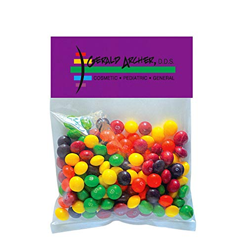 Candy Gift Pack-Skittles with CUSTOMIZED Business Card Magnet in Large Header Pack- BULK Quantities-100, 250, 500 or…