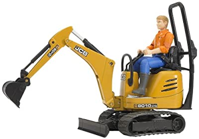 Bruder Jcb Micro Excavator 8010 Cts And Construction Worker Colors May Vary from Bruder