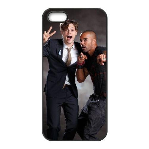 Criminal Minds coque iPhone 5 5S Housse téléphone Noir de couverture de cas coque EBDXJKNBO16553