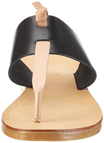Pscallie Pieces Leather Black Salomés Compensées Femme Rose v8AqFx