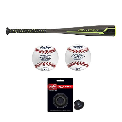 Rawlings 2019 Quatro Pro T-Ball Youth Baseball Bat (26