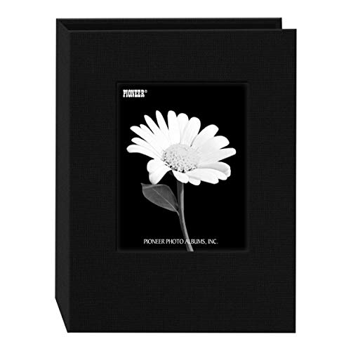 Pioneer Photo DA-57CBF/BK 24-Pocket Frame Cover Album for 5 by 7-Inch Prints, Deep Black Fabric (10 Page 5x7 Photo Album)