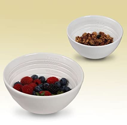amazon com portion control weight loss aid measure up bowls set of