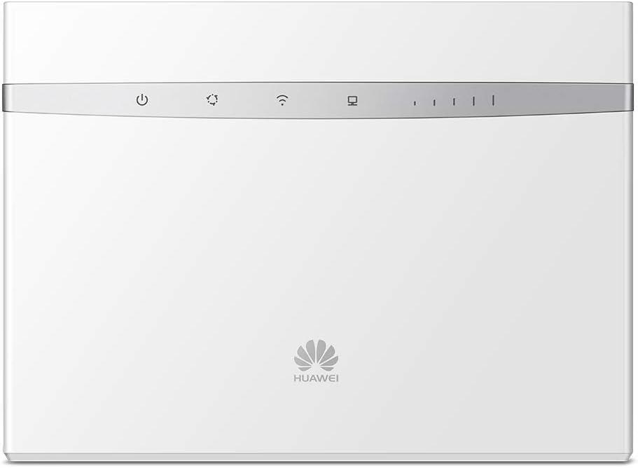 Huawei B525 - Router Wi-Fi 4G LTE (300Mbps de conexión inalámbrica, Wi-Fi Hotspot móvil con 3 Antenas, Banda Dual 2.4G&5G, tecnología MIMO, Tarjeta SIM/USB 2.0, hasta 64 usuarios), Blanco