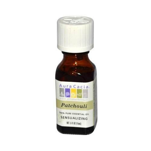 Aura Cacia Pure Essential Oil, Patchouli, 0.5 Fluid Ounce ()