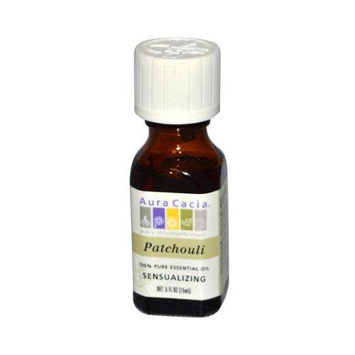 Aura Cacia Pure Essential Oil, Patchouli, 0.5 Fluid Ounce - Perfume Natural Aura Cacia