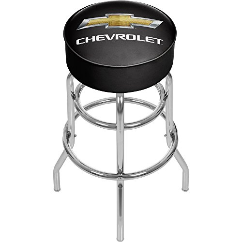 Chevrolet Padded Swivel Bar Stool from Trademark Gameroom