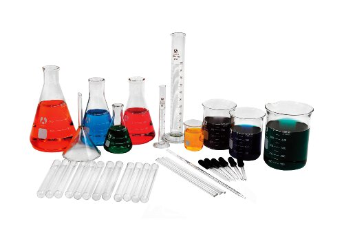 American Educational Borosilicate Glass Laboratory Glassware Kit (36 Pieces) by American Educational Products (Image #1)