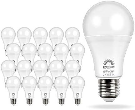 Pack de 20 Bombillas LED Bajo Consumo AVILA A60 · Lámpara LED 10W ...