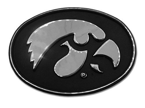 MVP Accessories Iowa Hawkeyes Premier Chrome Metal Auto Emblem