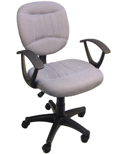 Gray Fabric Office Chair W Arms  Gas Lift   Great Student Or Computer Chair