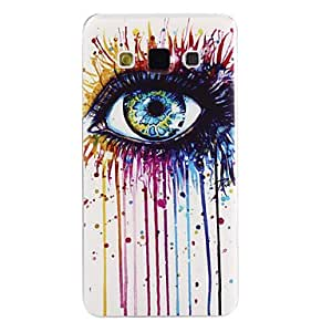 Colorful Eye Pattern Ultrathin TPU Soft Back Cover Case for Samsung Galaxy A7