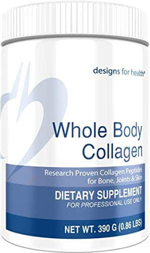 Designs for Health Whole Body Collagen - Pure Collagen Peptides, Patented Formula for Bone, Skin, Joint Support, Add to Shakes + Smoothies (30 Servings / 390g)